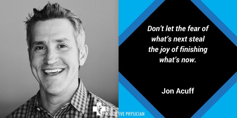 Jon Acuff Finish Quote